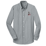 KF1061 - Men's Long Sleeve Gingham Easy Care Shirt