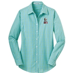 KF1062 - Ladies Long Sleeve Gingham Easy Care Shirt