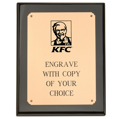 "KF0003 - Ebony Plaque - 7"" X 9"""