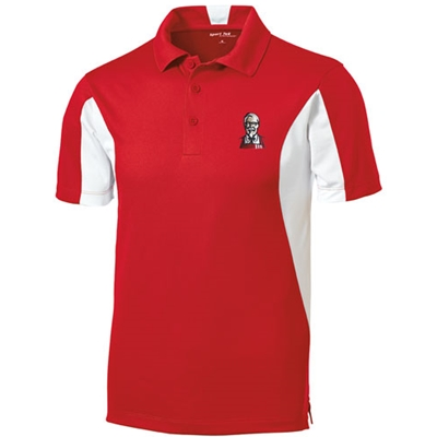 KF1075 - Men's Side Blocked Micropique Sport-Wick Polo