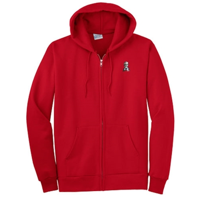 KF1107 -  Essential Fleece Full-Zip Hooded Sweatshirt